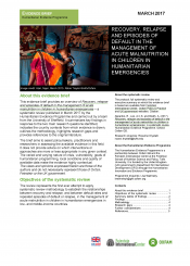 Managing acute malnutrition in humanitarian crises evidence brief cover
