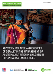 management of acute malnutrition in humanitarian emergencies cover
