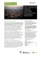 Urban Humanitarian Crises Evidence Brief Cover