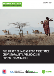 Impact of in-kind food assistance on pastoralism cover