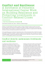 Cover of the Conflict Resilience brief