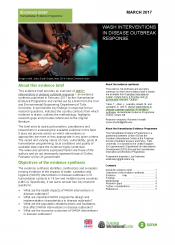 WASH interventions in disease outbreaks evidence brief cover