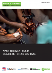 WASH interventions on disease outbreak cover
