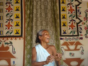 Laughing woman in Nepal