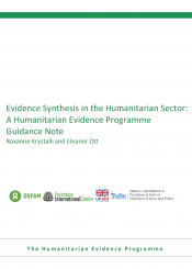 systematic evidence synthesis