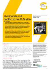 livelihoods in South Sudan