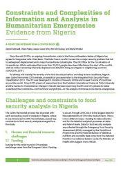 analyzing famine in Nigeria