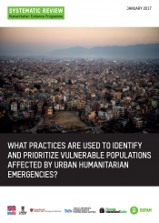 urban humanitarian emergencies