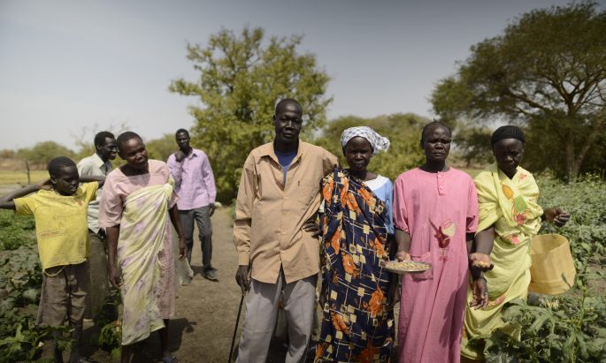 people gathered in South Sudan